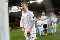 Pictured: Children mascots<br /> Re: Premier League match between Swansea City and Tottenham Hotspur at The Liberty Stadium, Swansea, Wales, UK. Wednesday April 05 2017