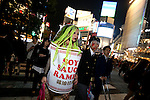 People in costumes walk through Shibuya scramble crossing on halloween in Tokyo, Japan October 31, 2014.  (Photo by Yuriko Nakao /AFLO)