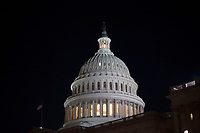 Exterior of the United States Capitol Building in Washington, DC as the US Senate continues to debate the tax bill inside on Friday, December 1, 2017. <br /> Credit: Alex Edelman / CNP /MediaPunch