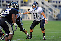 12 August 2011:  FIU's Kevin Van Kirk (67) looks for someone to block during a scrimmage held as part of the FIU 2011 Panther Preview at University Park Stadium in Miami, Florida.