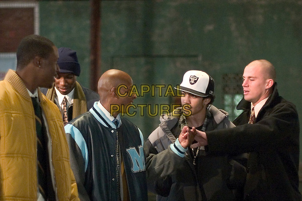 ROB BROWN, ANTWON TANNER, RICK GONZALEZ, CHANNING TATUM & NANA GBEWONYO.in Coach Carter.*Editorial Use Only*.www.capitalpictures.com.sales@capitalpictures.com.Supplied by Capital Pictures.