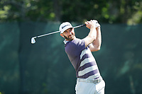 Dustin Johnson (USA) tees off on the second hole during the third round of the 118th U.S. Open Championship at Shinnecock Hills Golf Club in Southampton, NY, USA. 16th June 2018.<br /> Picture: Golffile | Brian Spurlock<br /> <br /> <br /> All photo usage must carry mandatory copyright credit (&copy; Golffile | Brian Spurlock)
