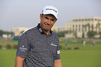 Padraig Harrington (IRL) on the 14th green during Thursday's Round 1 of the 2016 Portugal Masters held at the Oceanico Victoria Golf Course, Vilamoura, Algarve, Portugal. 19th October 2016.<br /> Picture: Eoin Clarke | Golffile<br /> <br /> <br /> All photos usage must carry mandatory copyright credit (&copy; Golffile | Eoin Clarke)