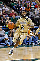 February 03, 2011:    Jacksonville Dolphins guard Russell Powell (2) during Atlantic Sun Conference action between the Jacksonville Dolphins and the Belmont Bruins at Veterans Memorial Arena in Jacksonville, Florida.  Belmont defeated Jacksonville 76-70.
