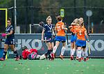 BLOEMENDAAL  - Michelle van der Drift (Bldaal) heeft gescoord voor Bloemendaal tijdens de hoofdklasse competitiewedstrijd vrouwen , Bloemendaal-Pinoke (1-2) . COPYRIGHT KOEN SUYK