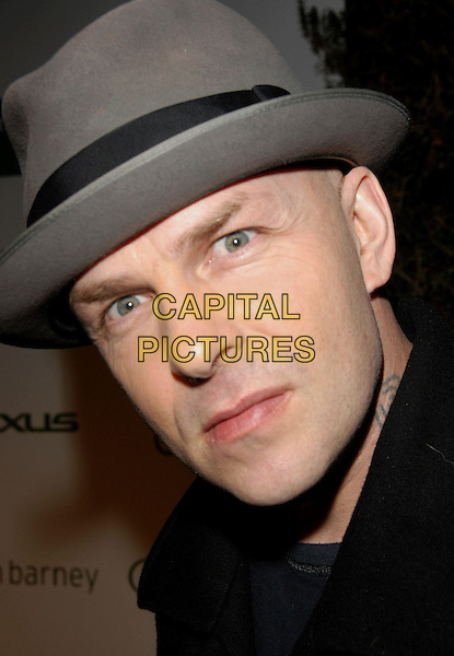 "TIM ARMSTRONG.The Sundance Channel Launch Party for ""The Green"" held at The Former La Brea Chrysler Jeep Building in Los Angeles, California, USA..April 9th, 2007 .headshot portrait grey gray hat.CAP/DVS.©Debbie VanStory/Capital Pictures"