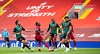 5th July 2020, Anfield, Liverpool, England;  Liverpools Sadio Mane  scores his goal during the Premier League match between Liverpool and Aston Villa at Anfield in Liverpool