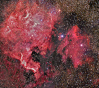 north American nebula, pelican nebula, Cygnus nebula, nebula, emission nebula, ngc 5070
