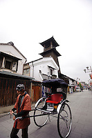 Kawagoe's historic clock tower, Kawagoe, Saitama Prefecture, Japan, May 7, 2011.