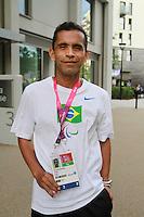 LONDRES, UK,  28 DE AGOSTO  -JOGOS PARALIMPICOS LONDRES 2012 - Tito Alves de Sena atleta da delegacao brasileira paraolimpica e visto na Vila Olimpica em Londres, amanha acontece a cerimonia de abertura. FOTO: GEORGINA GARCIA/ BRAZIL PHOTO PRESS.
