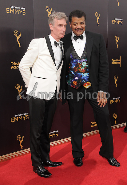 11 September 2016 - Los Angeles, California. Bill Nye, Neil Degrasse. 2016 Creative Arts Emmy Awards - Day 2 held at Microsoft Theater. Photo Credit: Birdie Thompson/AdMedia