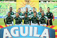 PALMIRA - COLOMBIA, 27-04-2019: Jugadores del Cali posan para una foto previo al partido por la fecha 18 de la Liga Águila I 2019 entre Deportivo Cali y Rionegro Águilas jugado en el estadio Deportivo Cali de la ciudad de Palmira. / Players of Cali pose to a photo prior Final second leg match as part Aguila League I 2019 between Deportivo Cali and Rionegro Aguilas played at Deportivo Cali stadium in Palmira city.  Photo: VizzorImage / Nelson Rios / Cont