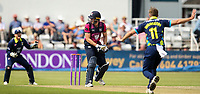 Northants Steelbacks' Alex Wakely survives an appeal from Durham bowler Nathan Rimmington <br /> <br /> Photographer Andrew Kearns/CameraSport<br /> <br /> Royal London One Day Cup - Northamptonshire v Durham - Sunday 27th May 2018 - The County Ground, Northampton<br /> <br /> World Copyright &copy; 2018 CameraSport. All rights reserved. 43 Linden Ave. Countesthorpe. Leicester. England. LE8 5PG - Tel: +44 (0) 116 277 4147 - admin@camerasport.com - www.camerasport.com