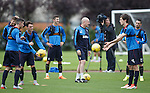Mark Warburton and his Rangers sqaud enjoying training