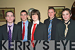 6612-6616.Night Out - Enjoying themselves at the Listowel Emmets GAA Club Social held in The Listowel Arms Hotel on Saturday night were l/r Jason Heaphy, John Heaphy, Richard Bourke, Conor Walsh and Graham Tarrant. ...................................................................................................................... ............