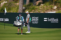 Dustin Johnson (USA) on the 9th during Round 4 of the Saudi International at the Royal Greens Golf and Country Club, King Abdullah Economic City, Saudi Arabia. 02/02/2020<br /> Picture: Golffile | Thos Caffrey<br /> <br /> <br /> All photo usage must carry mandatory copyright credit (© Golffile | Thos Caffrey)