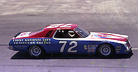 Benny parsons #72 Chevy at the 1977 Firecracker 400 at Daytona Internationa Spedway in Daytona Beach, FL in July 1977.(Photo by Brian Cleary/www.bcpix.com)