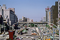 Osaka: Downtown traffic. Photo '82.