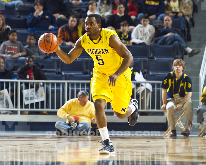 The University of Michigan men's basketball team beat Ferris State University, 59-33, at Crisler Arena in Ann Arbor Mich., on November, 11 2011.