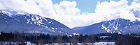 Downhill Ski Runs on Blackcomb and Whistler Mountains (Coast Mountains), Whistler Ski Resort, BC, British Columbia, Canada - Panoramic View