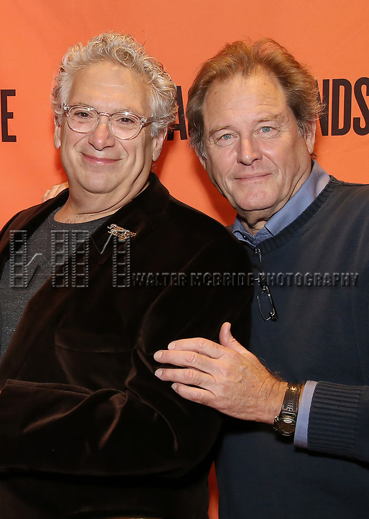 Harvey Fierstein and Brian Kerwin attend the Off-Broadway Opening Night performance of the Second Stage Production on 'Torch Song'  on October 19, 2017 at Tony Kiser Theater in New York City.