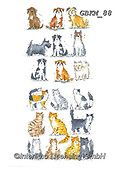 Kate, CUTE ANIMALS, LUSTIGE TIERE, ANIMALITOS DIVERTIDOS, paintings+++++Cats & dogs page 44,GBKM88,#ac#, EVERYDAY ,cat,cats ,dogs,dog