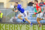 Patrick Curtin Kerry in action against Aidan O'Shea Mayo in the National Football League in Austin Stack Park on Sunday..