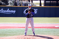 ELON, NC - MARCH 1: Cameron Edmonson #28 of Indiana State University stands on the mound during a game between Indiana State and Elon at Walter C. Latham Park on March 1, 2020 in Elon, North Carolina.