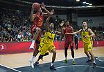 13.11.2019, EWE Arena, Oldenburg, GER, EuroCup 7Days, EWE Baskets Oldenburg vs Galatasaray Doga Sigorta Istanbul, im Bild<br /> Ben MOORE (Galatasary Doga Sigorta Istanbul #26 ) Justin SEARS (EWE Baskets Oldenburg #5 ) Greg WHITTINGTON (Galatasary Doga Sigorta Istanbul #1 ) Philipp SCHWETHELM (EWE Baskets Oldenburg #33 )<br /> Foto © nordphoto / Rojahn