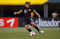 14 MAY 2011: USA Women's National Team midfielder Tobin Heath (17) dribbles the ball during the International Friendly soccer match between Japan WNT vs USA WNT at Crew Stadium in Columbus, Ohio.