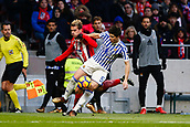 2nd December 2017, Wanda Metropolitano, Madrid, Spain; La Liga football, Atletico Madrid versus Real Sociedad;Igor Zubeldia (5) Real Sociedad's player Antonie Griezmann (7) Atletico de Madrid's player