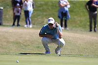 Ryan Fox (NZL) on the 8th green during Saturday's Round 3 of the 2018 Omega European Masters, held at the Golf Club Crans-Sur-Sierre, Crans Montana, Switzerland. 8th September 2018.<br /> Picture: Eoin Clarke | Golffile<br /> <br /> <br /> All photos usage must carry mandatory copyright credit (&copy; Golffile | Eoin Clarke)