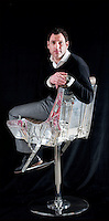BNPS.co.uk (01202 558833)<br /> Pic: PhilYeomans/BNPS<br /> <br /> Bespoke furniture for the Jet Set.<br /> <br /> Brett Armstrong on a Martin Baker Mk 10 ejector seat from a Tornado - yours for &pound;7000 + VAT<br /> <br /> Two brother's have come up with ultimate in aircraft recycling - turning unwanted bits of redundant airliners into highly desirable - and highly expensive - bespoke items of furniture.<br /> <br /> Brett and Shane Armstrong from Kent scour the worlds aircraft graveyards looking for interesting items they can rescue from sad decay and with a lot of imagination and elbow grease convert into one-off gleaming items of furniture costing thousands of pounds.