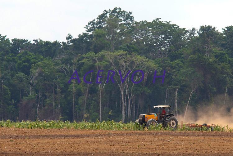 Terra para plantação de soja.<br /> Belterra, Pará, Brasil.<br /> Foto Paulo Santos<br /> 11/2007