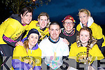 Tralee runners up to hear the morning chorus at the Darkness into Light 5km in aid of Pieta House in Killarney on Saturday morning l-r: Anne Kelliher, Colin Ahern, Ava Kelliher. Back row: Lorraine Lynch, Catherine Costello, Ashley O'Shea and Kelly Robbins