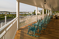 Porch at Harborview Inn, Edgartown, Marthas Vineyard, MA