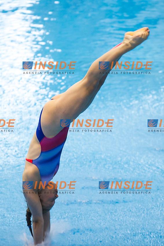 Tina Punzel GER bronze medal<br /> <br /> 3m Springboard Women final<br /> <br /> Day 06 14/06/2015  <br /> <br /> 2015 Arena European Diving Championships<br /> <br /> Neptun Schwimmhalle<br /> <br /> Rostock Germany 09-14 June 2015 <br /> <br /> Photo Giorgio Perottino/Deepbluemedia/Insidefoto