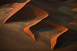 Aerial of sand dunes, Namib Desert