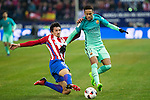 Atletico de Madrid's defender Stefan Savic and FC Barcelona's forward Neymar Santos Jr competes for the ball with during the match of Copa del Rey between Atletico de  Madrid and Futbol Club Barcelona at Vicente Calderon Stadium in Madrid, Spain. February 1st 2017. (ALTERPHOTOS/Rodrigo Jimenez)