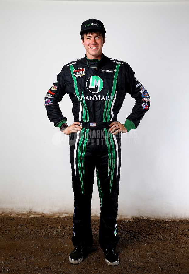 Mar. 21, 2014; Chandler, AZ, USA; LOORRS pro buggy driver Dave Mason Jr poses for a portrait prior to round one at Wild Horse Motorsports Park. Mandatory Credit: Mark J. Rebilas-USA TODAY Sports
