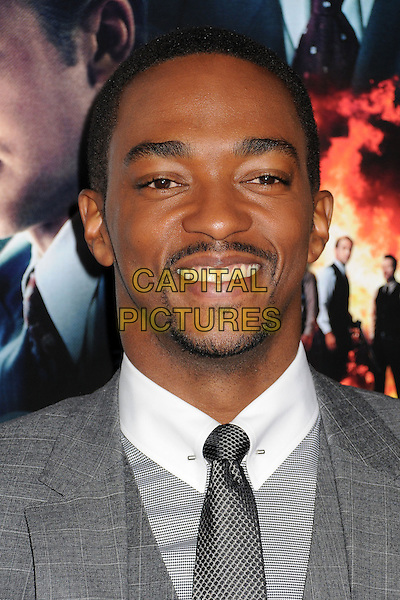 """Anthony Mackie.""""Gangster Squad"""" Los Angeles Premiere held at Grauman's Chinese Theatre, Hollywood, California, USA..January 7th, 2013.headshot portrait goatee facial hair grey gray suit .CAP/ADM/BP.©Byron Purvis/AdMedia/Capital Pictures."""