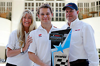 #30 Extreme Speed Motorsports, Ligier JS P3, LMP3: Kris Wright, Nic Jonsson receives the championship trophy