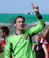 FUSSBALL   DFB POKAL   SAISON 2011/2012  1. Hauptrunde SpVgg Unterhaching - SC Freiburg             31.07.2011 Stefan Riederer (Unterhaching)