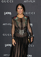 LOS ANGELES, CA - OCTOBER 29: Salma Hayek attends the 2016 LACMA Art + Film Gala honoring Robert Irwin and Kathryn Bigelow presented by Gucci at LACMA on October 29, 2016 in Los Angeles, California. (Credit: Parisa Afsahi/MediaPunch).