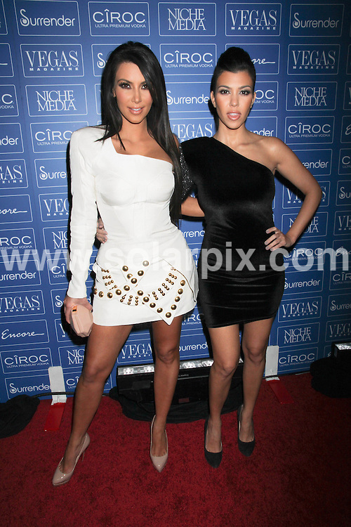 **ALL ROUND PICTURES FROM SOLARPIX.COM**.**SYNDICATION RIGHTS FOR UK, AUSTRALIA, DENMARK, PORTUGAL, S. AFRICA, SPAIN & DUBAI (U.A.E) & ASIA (EXCLUDING JAPAN) ONLY**.7th Anniversary Party for Vegas Magazine Hosted by Kim Kardashian and Kourtney Kardashian, Surrender Nightclub at Encore Las Vegas, USA. 19 June 2010..This pic: Kim Kardashian and Kourtney Kardashian..JOB REF: 11521 PHZ prn  DATE: 19_06_2010.**MUST CREDIT SOLARPIX.COM OR DOUBLE FEE WILL BE CHARGED**.**MUST NOTIFY SOLARPIX OF ONLINE USAGE**.**CALL US ON: +34 952 811 768 or LOW RATE FROM UK 0844 617 7637**