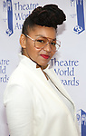 Crystal A. Dickinson attends the 73rd Annual Theatre World Awards at The Imperial Theatre on June 5, 2017 in New York City.