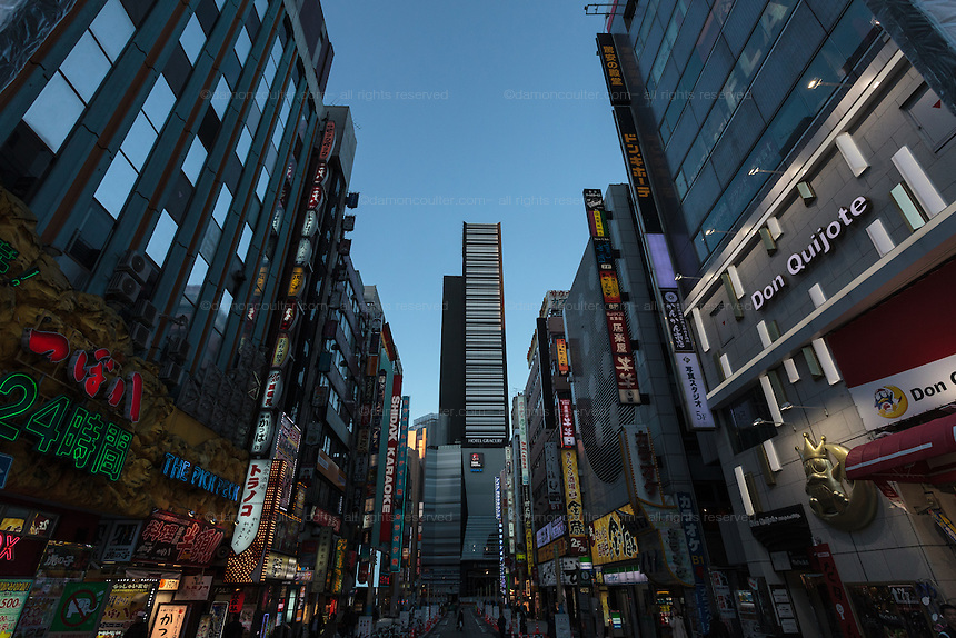The Kabukicho red-light district of Shinjuku, Tokyo, Japan. Friday January 23rd 2015