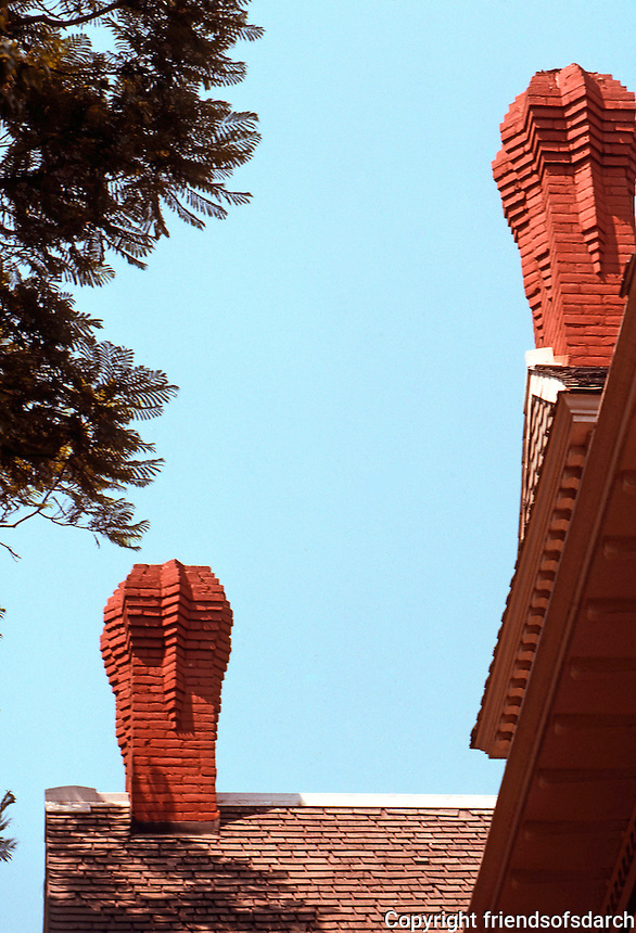 "Riverside CA: ""Heritage House"", 1891. Detail. Photo '89."
