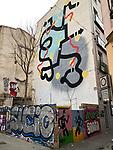 Valencia-Spain, January 13, 2018; <br /> street art / graffiti by i.a. David de Limón (Limon); <br /> Photo © HorstWagner.eu