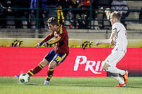 Spain's Deulofeu and Norway's Skjelvik during an International sub21 match. March 21, 2013.(ALTERPHOTOS/Alconada) /NortePhoto